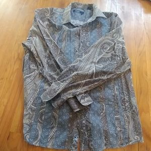Nat Nast Mens Button Down Long Sleeve Shirt XXL